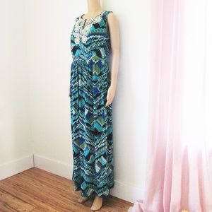 EAST 5TH maxi dress stretch sz L new